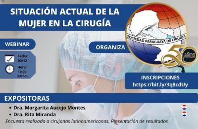 WEBINAR: Situación Actual de la Mujer en la Cirugía